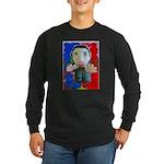 Pop Marc Paul (blu/red) Long Sleeve Dark T-Shirt