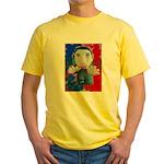 Pop Marc Paul (blu/red) Yellow T-Shirt