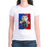 Pop Marc Paul (blu/red) Jr. Ringer T-Shirt
