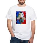Pop Marc Paul (blu/red) White T-Shirt