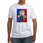 Pop Marc Paul (blu/red) Fitted T-Shirt