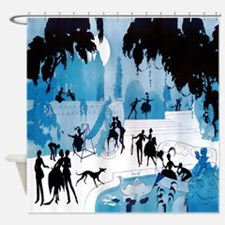 Art Deco Midnight Lovers - Vald'Es Shower Curtain