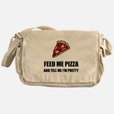 Feed Me Pizza Pretty Messenger Bag
