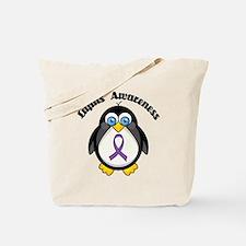 Lupus awareness penguin Tote Bag