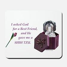Shih Tzu (Black & White) Mousepad