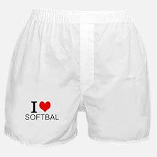 I Love Softball Boxer Shorts