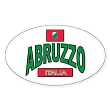 Abruzzo Italy Oval Decal