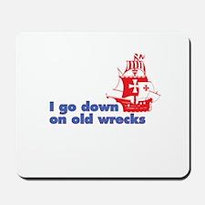 Old Wrecks Mousepad