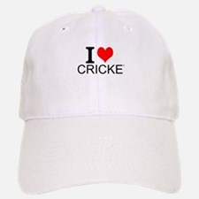 I Love Cricket Baseball Baseball Baseball Cap