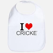 I Love Cricket Bib