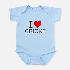 I Love Cricket Body Suit