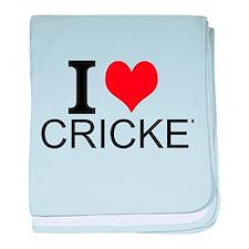 I Love Cricket baby blanket