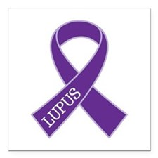 "Lupus Awareness Month Square Car Magnet 3"" x 3"""
