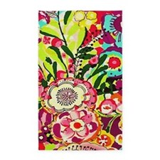 Beautiful Pink, Blue, Purple Flowers Floral Abstra