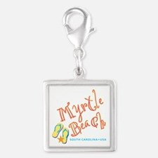 Myrtle Beach - Silver Square Charm