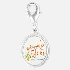 Myrtle Beach - Silver Oval Charm
