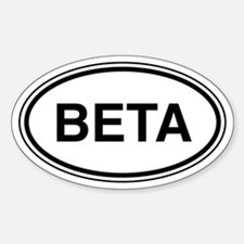Beta Car Oval Decal