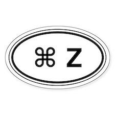 Apple CMD-Z Car Oval Decal