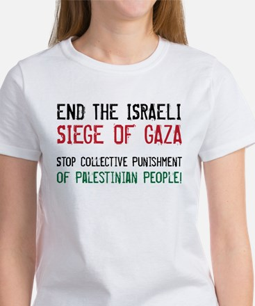 end the siege on gaza T-Shirt