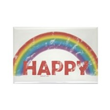 Happy Rectangle Magnet