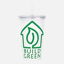 Build Green Acrylic Double-wall Tumbler