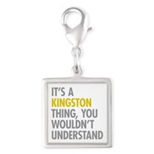 Its A Kingston Thing Silver Square Charm