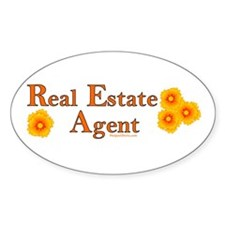 Real Estate Agent Oval Decal