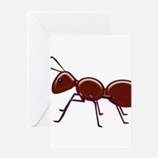 Shiny Brown Ant Greeting Cards