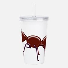 Funny Insects Acrylic Double-wall Tumbler
