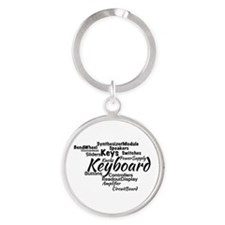 Keyboard Word Cloud Keychains