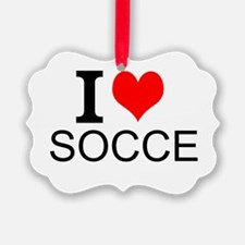 I Love Soccer Ornament