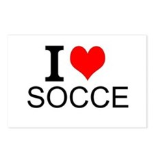 I Love Soccer Postcards (Package of 8)