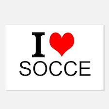 I Love Soccer Postcards (Package of 8)