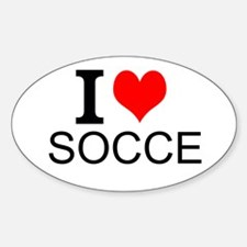 I Love Soccer Decal