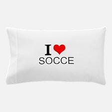 I Love Soccer Pillow Case