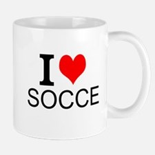 I Love Soccer Mugs