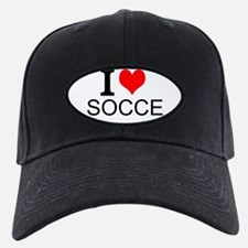 I Love Soccer Baseball Hat