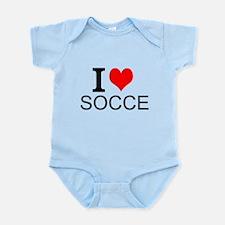 I Love Soccer Body Suit