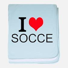 I Love Soccer baby blanket