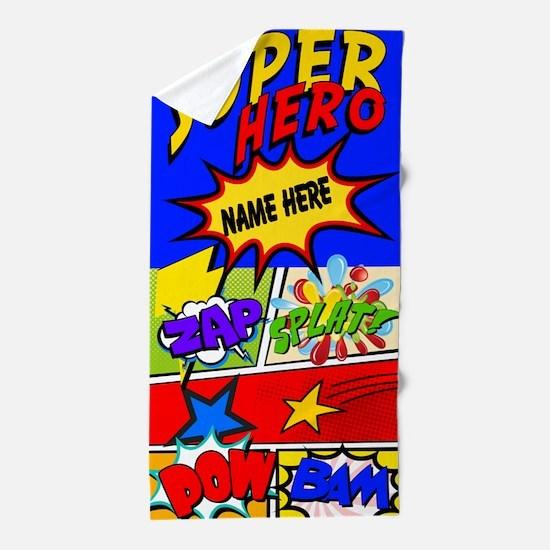 Superhero Comic Book Custom Beach Towel