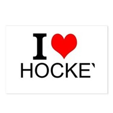 I Love Hockey Postcards (Package of 8)