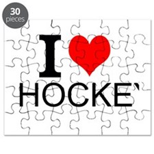 I Love Hockey Puzzle