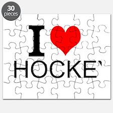 I Love Hockey Puzzle