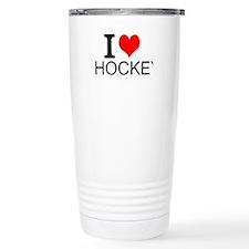 I Love Hockey Travel Mug