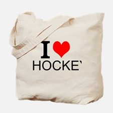 I Love Hockey Tote Bag