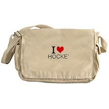 I Love Hockey Messenger Bag
