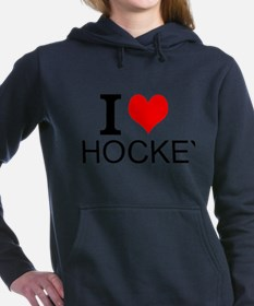 I Love Hockey Women's Hooded Sweatshirt