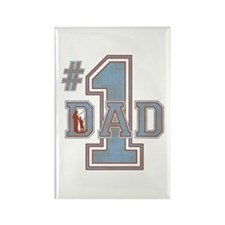 Number 1 Dad Rectangle Magnet