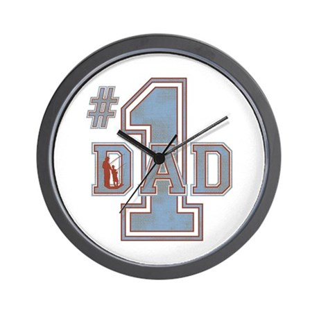 Number 1 Dad Wall Clock