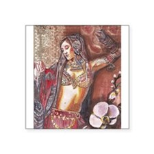 "Funny Bellydancing Square Sticker 3"" x 3"""